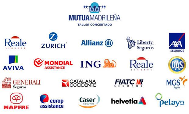 fotografia de logos de las compañias de seguros